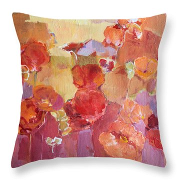 Dreaming Flowers Throw Pillow