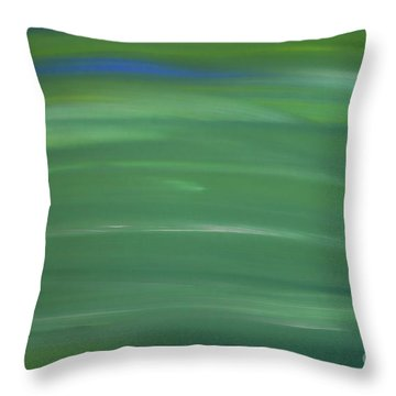Floating In Green Throw Pillow