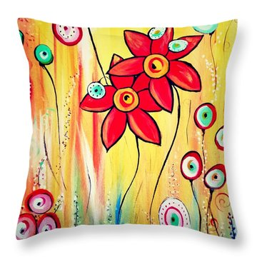 Dreaming In Orange Throw Pillow