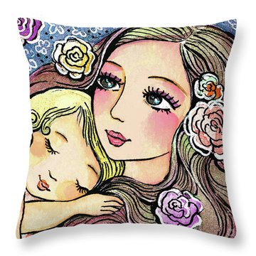 Dreaming In Roses Throw Pillow