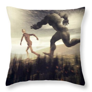 Dreaming Of A Nameless Fear Throw Pillow