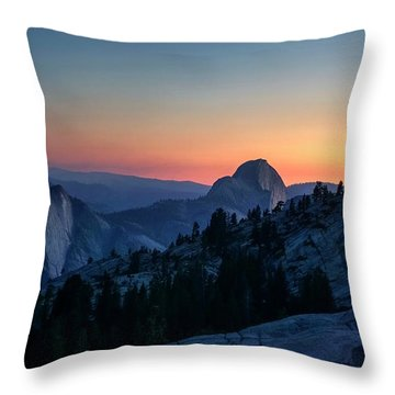 Throw Pillow featuring the photograph Dreaming Of Climbing Half Dome by Peter Thoeny