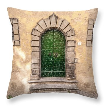 Dreaming Of Cortona Throw Pillow