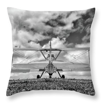 Dreaming Of Flight, In Black And White Throw Pillow