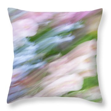 Throw Pillow featuring the photograph Dreaming Of Flowers 1 by Marilyn Hunt