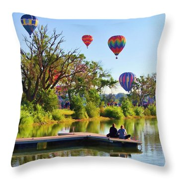 Throw Pillow featuring the photograph Dreaming Of Flying by Diane Alexander