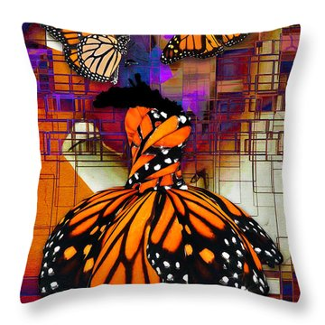 Throw Pillow featuring the mixed media Dreaming Of Flying High by Marvin Blaine