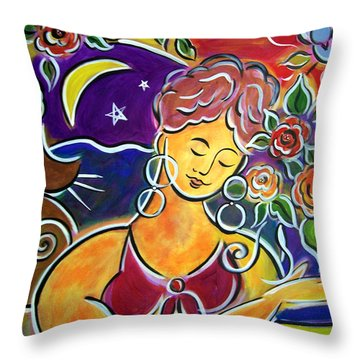 Dreaming Of My Garden In Mexico Throw Pillow