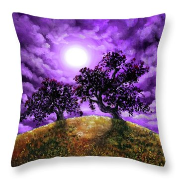 Dreaming Of Oak Trees Throw Pillow by Laura Iverson