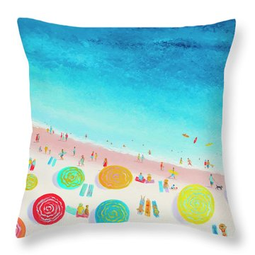Dreaming Of Sun, Sand And Sea Throw Pillow
