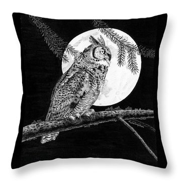 Dreaming Of The Night Throw Pillow