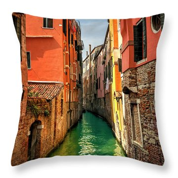 Dreaming Of Venice  Throw Pillow by Carol Japp