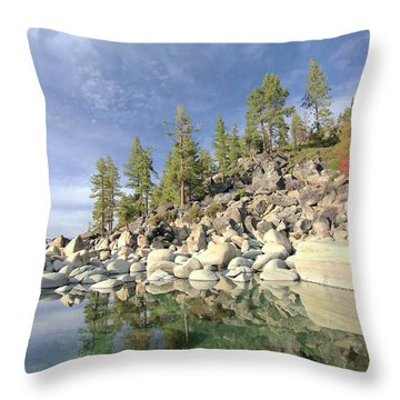 Throw Pillow featuring the photograph Dreaming Pond by Sean Sarsfield