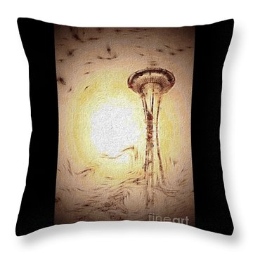 Dreaming Seattle Throw Pillow by William Wyckoff