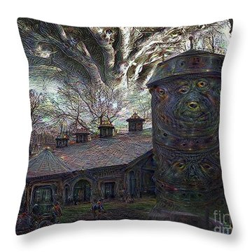 Dreaming Silent Screaming Throw Pillow