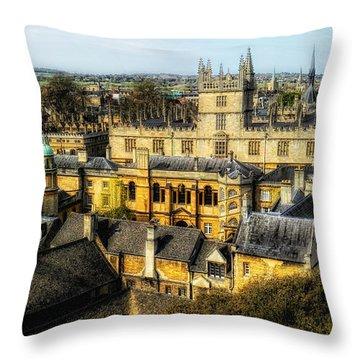 Dreaming Spires Throw Pillow by Nigel Fletcher-Jones