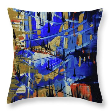 Dreaming Sunshine II Throw Pillow by Cathy Beharriell