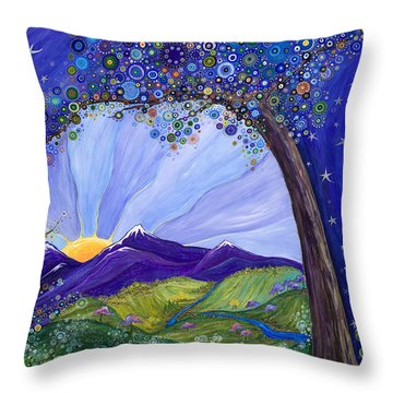 Dreaming Tree Throw Pillow by Tanielle Childers