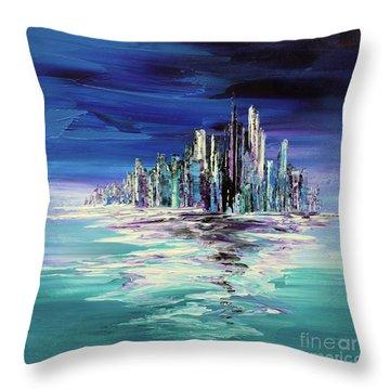 Dreamland Isle Throw Pillow by Tatiana Iliina