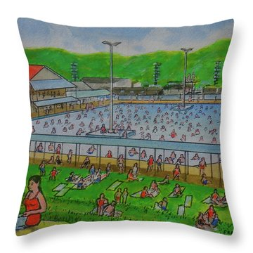 Dreamland Pool Summer 1948 Throw Pillow
