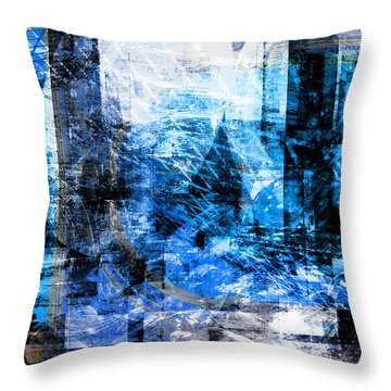 Dreams At A Vintage Cafe Throw Pillow