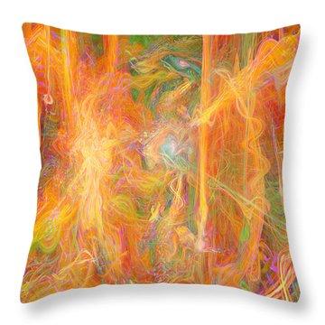 Dreams In Color Throw Pillow by Linda Sannuti