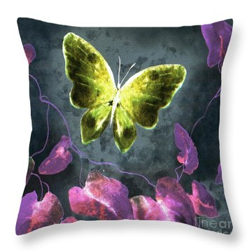 Dreams Of Butterflies Throw Pillow