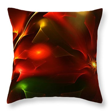 Dreams Of Christmas Past Throw Pillow by David Lane