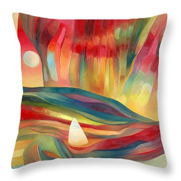 Throw Pillow featuring the painting Dreams Of Cuba by Linda Cull