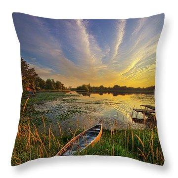 Dreams Of Dusk Throw Pillow