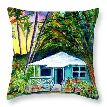 Dreams Of Kauai 2 Throw Pillow by Marionette Taboniar