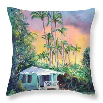 Dreams Of Kauai Throw Pillow by Marionette Taboniar