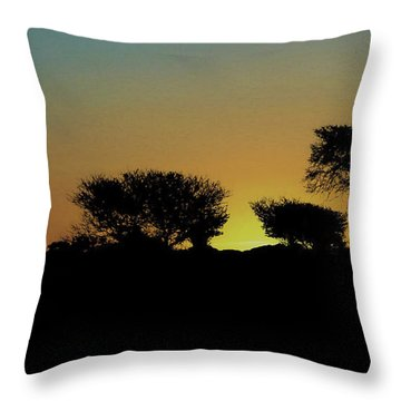 Dreams Of Namibian Sunsets Throw Pillow by Ernie Echols