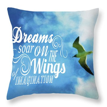 Throw Pillow featuring the photograph Dreams On Wings by Jan Amiss Photography