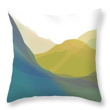 Throw Pillow featuring the digital art Dreamscape by Gina Harrison