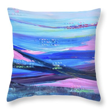 Dreamscape Throw Pillow by Irene Hurdle