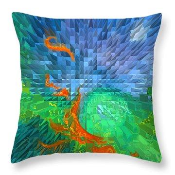 Dreamscape Of Change Throw Pillow by Alan Schwartz