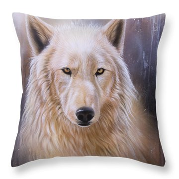 Dreamscape Wolf IIi Throw Pillow