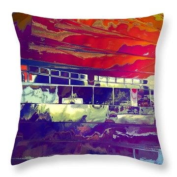 Dreamship Throw Pillow by Alika Kumar