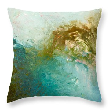 Throw Pillow featuring the painting Dreamstime 3 by Irene Hurdle