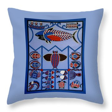 Throw Pillow featuring the painting Dreamtime by Stephanie Moore