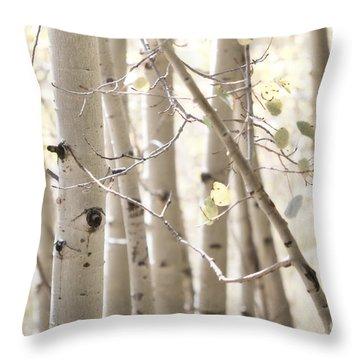 Dreamy Aspen Woodland Throw Pillow by Andrea Hazel Ihlefeld
