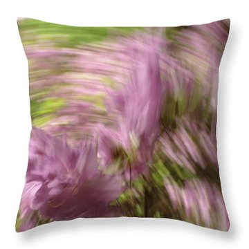 Dreamy Azaleas Throw Pillow