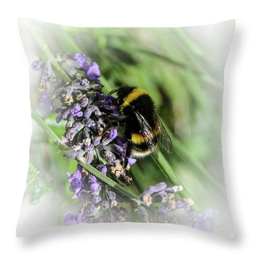 Dreamy Bumble Bee Throw Pillow