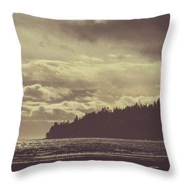 Dreamy Coastline Throw Pillow
