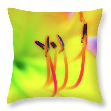 Dreamy Daylily Throw Pillow
