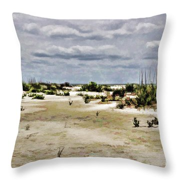 Dreamy Sand Dunes Throw Pillow