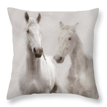 Dreamy Horses Throw Pillow