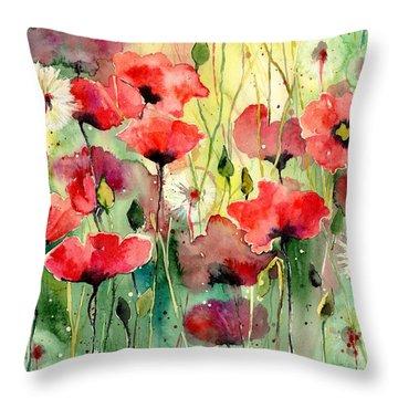 Dreamy Hot Summer Fields Throw Pillow