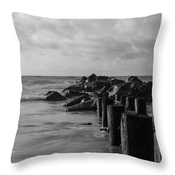 Dreamy Jettie Grayscale Throw Pillow